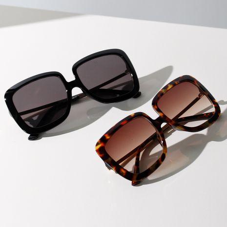 Oversized Frame Square Sunglasses Retro Frame Sunglasses Half Metal Glasses wholesale nihaojewelry NHXU231425's discount tags
