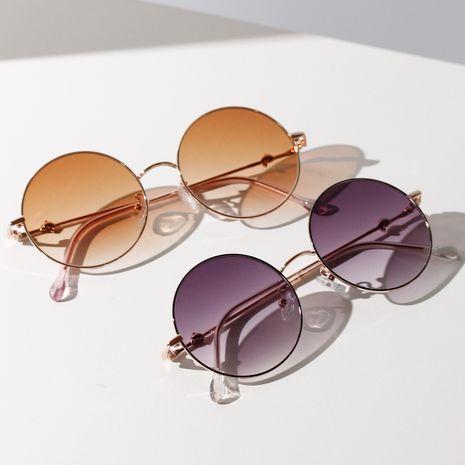metal round dolphin legs sunglasses retro prince mirror color sunglasses popular wholesale nihaojewelry NHXU231428's discount tags