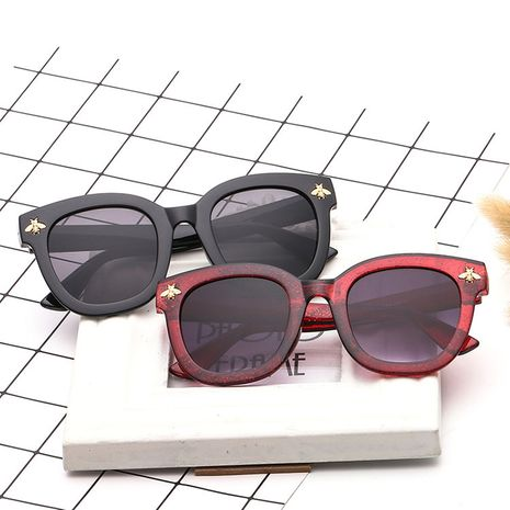new trend ladies sunglasses retro small bee big frame sunglasses wholesale nihaojewelry NHBA231447's discount tags