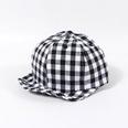 NHTQ786311-Plaid-soft-edged-feather-hat-black-Children-(48-5
