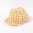 NHTQ786313-Plaid-soft-edged-hat-yellow(48-50CM)