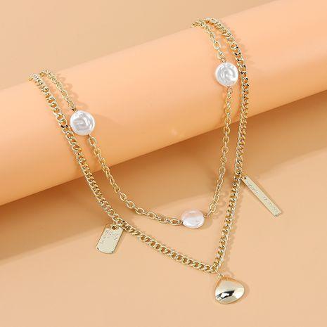 Coréenne mode rétro tempérament sauvage perle double collier en gros nihaojewelry NHPS231458's discount tags