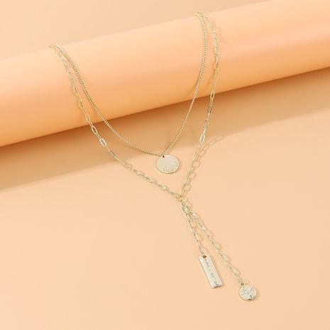 Coréenne créative sauvage tempérament exagéré double collier en gros nihaojewelry NHPS231459's discount tags