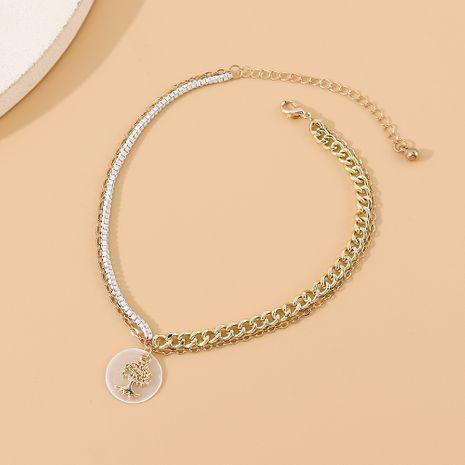 Mode créative coréenne populaire arbre porte-bonheur exagéré double cheville en gros nihaojewelry NHPS231465's discount tags