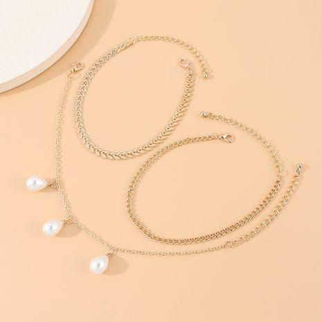 Mode coréenne rétro petite fée perle multi-couche cheville en gros nihaojewelry NHPS231467's discount tags