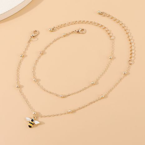 Système de mode coréen populaire petite abeille double cheville en gros nihaojewelry NHPS231470's discount tags