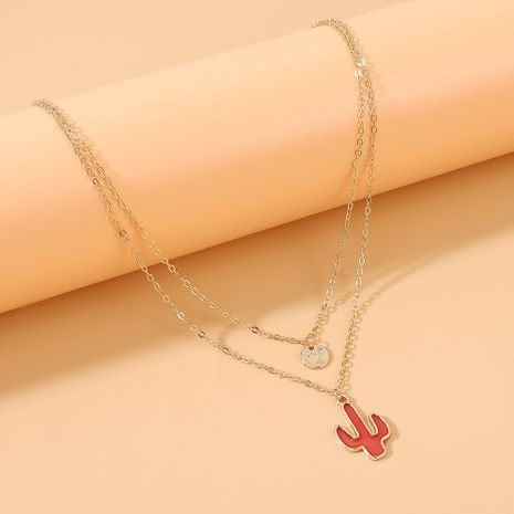Coréen simple mode cactus double collier en gros nihaojewelry NHPS231473's discount tags
