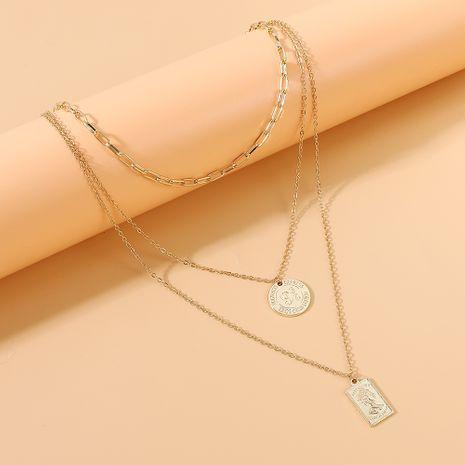 Coréen nouveau créatif rétro exagéré mode multicouche collier en gros nihaojewelry NHPS231474's discount tags