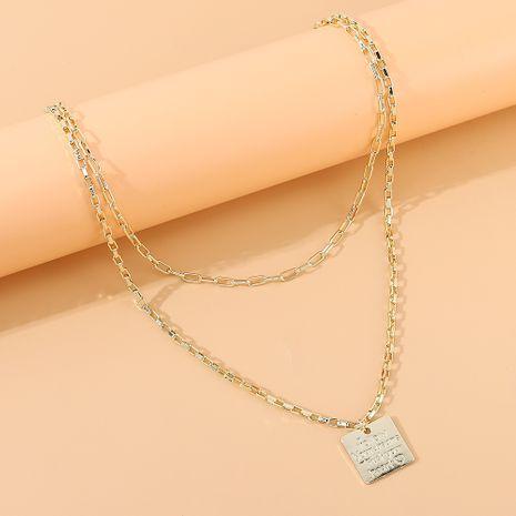 vente chaude nouvelle mode créative double collier en gros nihaojewelry NHPS231479's discount tags