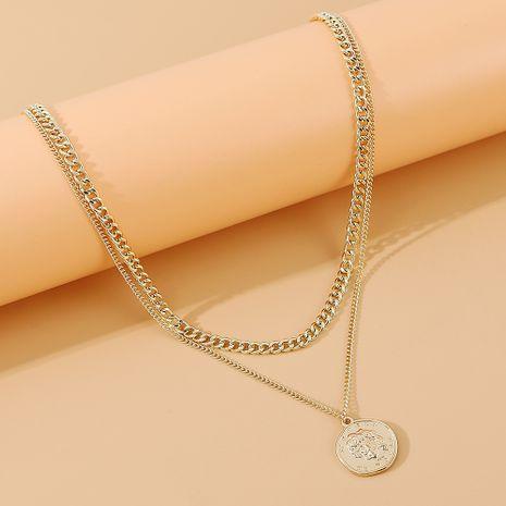 nouvelle mode exagérée créative tête romaine double collier en gros nihaojewelry NHPS231481's discount tags