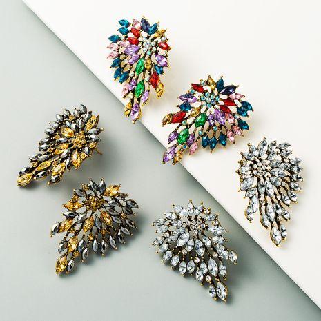 alliage rétro incrusté de strass de couleur boucles d'oreilles exagérées nouvelles boucles d'oreilles en gros nihaojewelry NHLN231489's discount tags