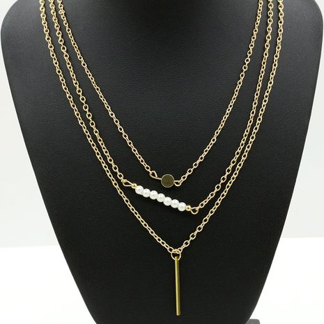 nouvelle mode simple belle perle bâtons multicouche collier nihaojewelry gros NHDP231494's discount tags