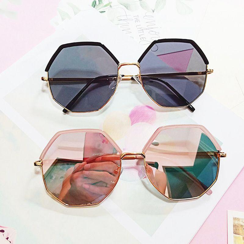 Korean polygonal irregular sunglasses round face retro sunglasses Harajuku style wholesale nihaojewelry NHBA231441