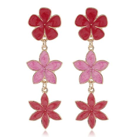 fashion metal wild sweet flower exaggerated earrings  wholesale nihaojewelry NHSC231810's discount tags