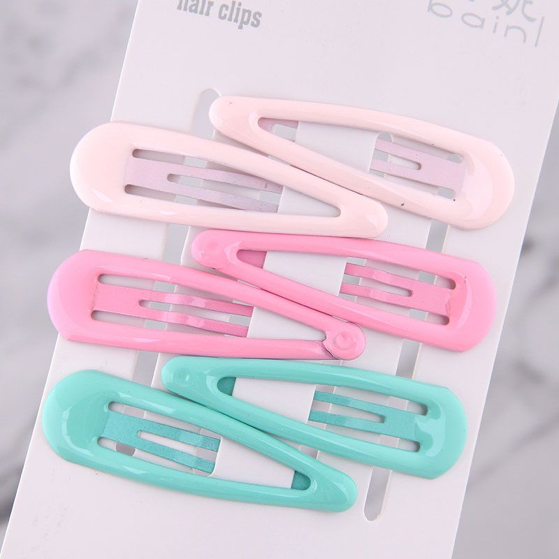 Korean Candy color cute children simple water drop hairpin side clip hairpin wholesale nihaojewelry NHSC239191