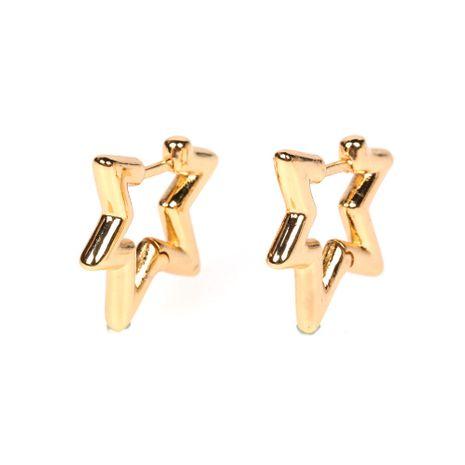 new five-pointed star ear bone clip romantic star no pierced earrings wholesale nihaojewelry NHPY239228's discount tags