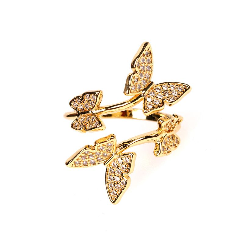 New fashion trend open ring simple exquisite butterfly ring wholesale nihaojewelry NHPY239234