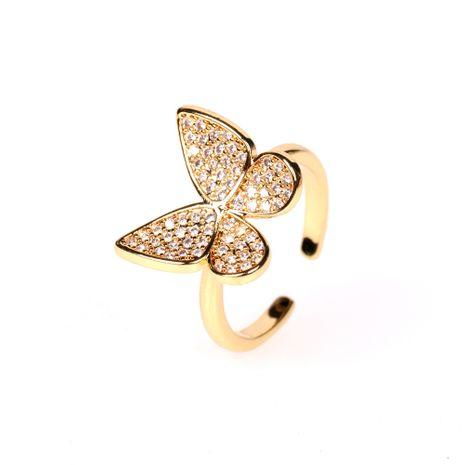 bague papillon ouverte zircon mode nouvelle bague index ouverte en gros nihaojewelry NHPY239235's discount tags