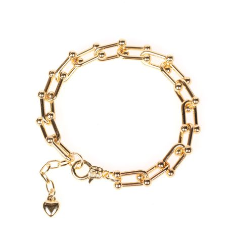 Nouvelle mode galvanoplastie véritable chaîne en or hommes et femmes bracelets épais bijoux hip-hop en gros nihaojewelry NHPY239237's discount tags