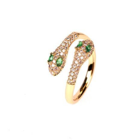 nouvelle bague de serpent exotique diamant en cristal micro-serti en gros nihaojewelry NHPY239238's discount tags