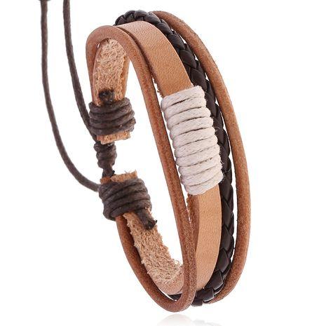Pulsera ajustable de cuero de vaca vintage tejida a mano para hombres y mujeres nihaojewelry NHPK239244's discount tags