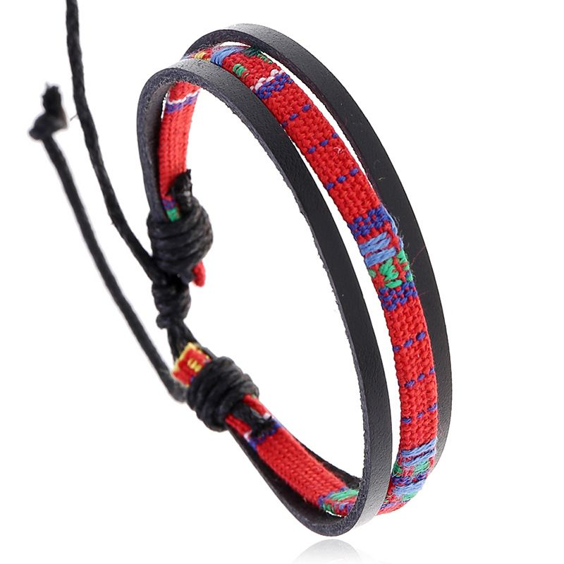 Hot-selling jewelry hand-woven multilayer retro leather ethnic style bracelet nihaojewelry NHPK239245