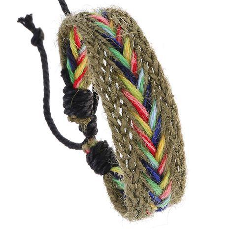 Vente chaude bohème rétro tressé simple totem coloré main corde bracelet nihaojewelry NHPK239246's discount tags