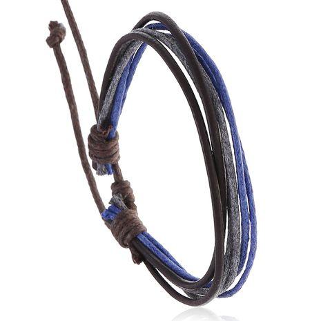 Bijoux de vente à chaud accessoires simples et polyvalents pour hommes et femmes bracelet en cuir de vache tissé vintage en gros NHPK239251's discount tags