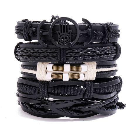 bracelet en cuir de vache tissé rétro vente chaude bracelet de combinaison de bricolage NHPK239255's discount tags