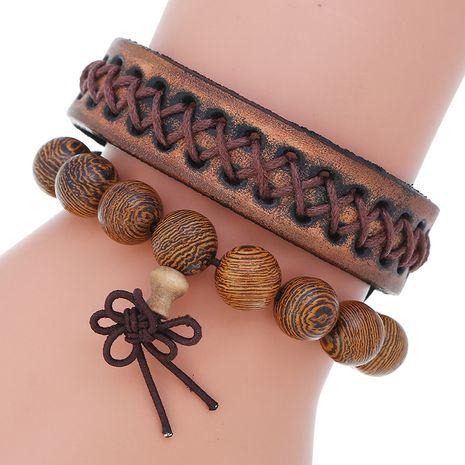 Nouveau vintage vieux bricolage combinaison de perles en bois ensemble bracelet pour hommes en gros nihaojewelry NHPK239263's discount tags