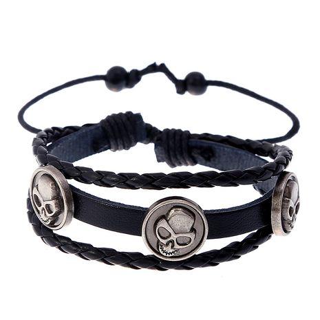 Beaded leather Korean sweet woven punk leather bracelet wholesale nihaojewelry NHPK239267's discount tags