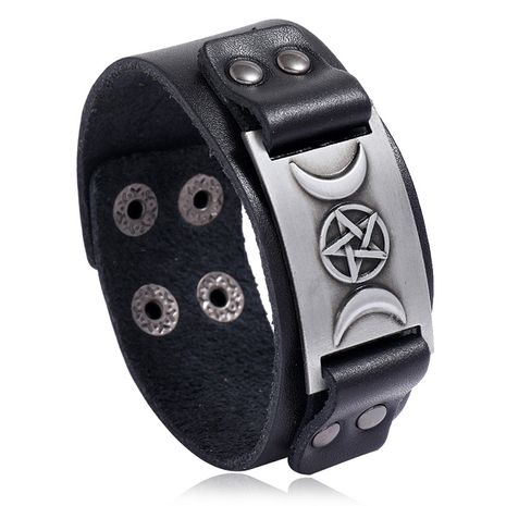 Bracelet de mode tendance punk nordique en cuir pour hommes rétro bijoux nihaojewelry réglable NHPK239276's discount tags
