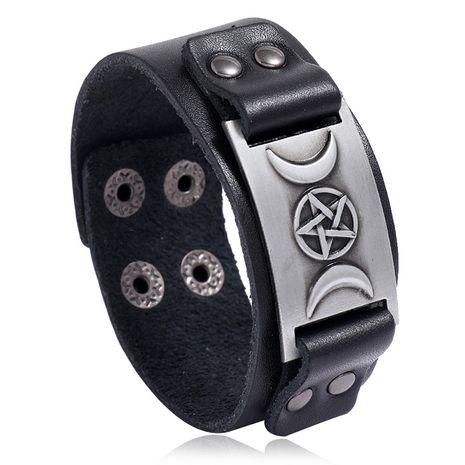 Retro men's leather Nordic punk trendy fashion bracelet jewelry adjustable nihaojewelry NHPK239276's discount tags