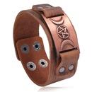 Retro mens leather Nordic punk trendy fashion bracelet jewelry adjustable nihaojewelry NHPK239276