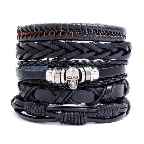 Bracelet en cuir de vachette tissé rétro ensemble de bricolage pour hommes Vente chaude en gros nihaojewelry NHPK239282's discount tags