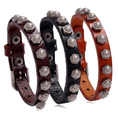 New  retro  versatile  cowhide bracelet wholesale nihaojewelry NHPK239285's discount tags