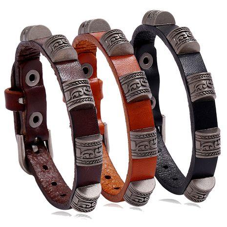 Vente chaude punk rétro accessoires simples et polyvalents pour étudiants bracelet en cuir de vache réglable nihaojewelry NHPK239287's discount tags