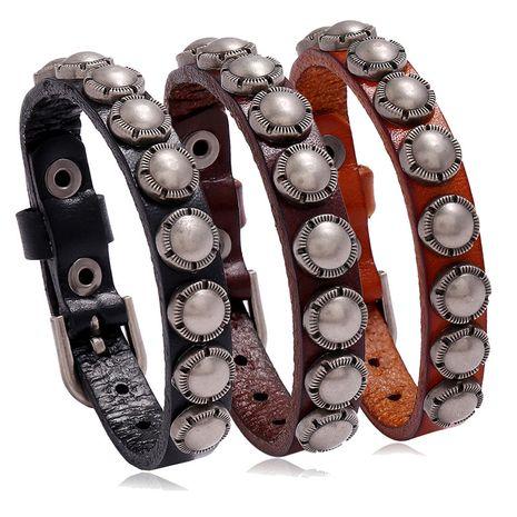 Bijoux Punk Bracelet en cuir pour hommes de mode rétro en gros Nihaojewelry NHPK239294's discount tags