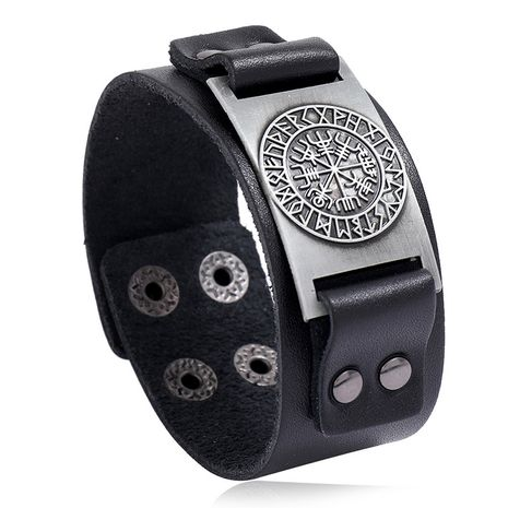 Hot-selling leather fashion simple retro punk bracelet men's jewelry nihaojewelry NHPK239297's discount tags