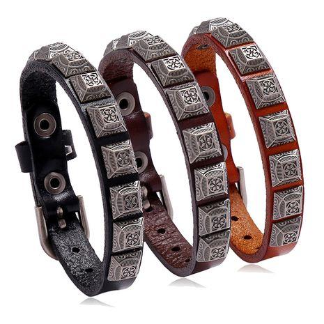 Mode punk alliage rétro mode bracelet en cuir vente chaude en gros nihaojewelry NHPK239298's discount tags