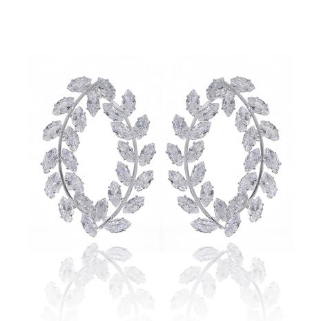 fashion olive branch earrings zircon daily earrings wholesale nihaojewelry NHHS239300's discount tags