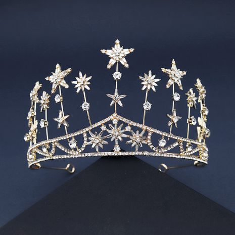 new  fashion crystal head jewelry wedding crown palace style queen crown bride modeling hair accessories NHHS239306's discount tags
