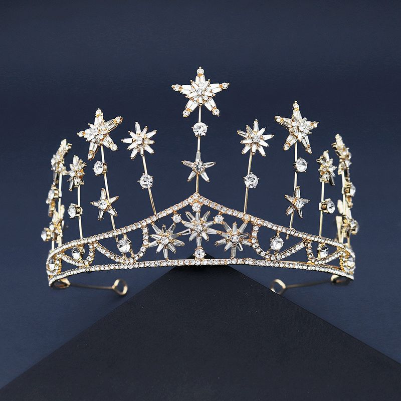 new  fashion crystal head jewelry wedding crown palace style queen crown bride modeling hair accessories NHHS239306