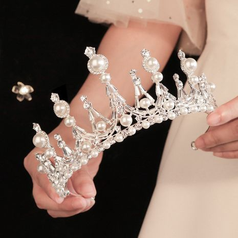 Aleación nupcial rhinestone mesa corona banquete fiesta tocado venta al por mayor nihaojewelry NHHS239309's discount tags