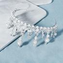 Aleacin nupcial rhinestone mesa corona banquete fiesta tocado venta al por mayor nihaojewelry NHHS239309