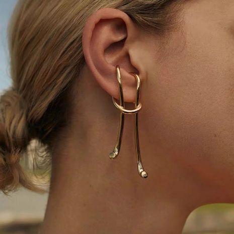 long earrings retro ear hooks exaggerated ear clips no pierced earrings wholesale nihaojewelry NHNT239312's discount tags