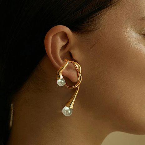 simple new irregular ear hooks pierced  earrings wholesale nihaojewelry NHNT239313's discount tags