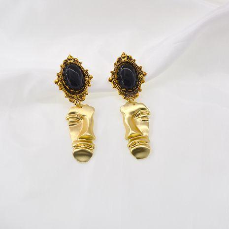 Boucles d'oreilles visage abstrait baroque minimaliste Boucles d'oreilles rétro françaises en gros nihaojewelry NHNT239321's discount tags