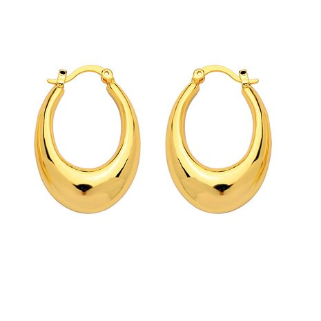 minimalist ring earrings water drop glossy design earring wholesale nihaojewelry NHNT239327's discount tags