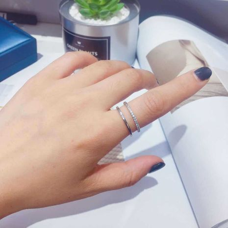 titanium steel plated 18k gold non-fading non-allergic fashion trend diamond ring wholesale nihaojewelry NHIM239359's discount tags